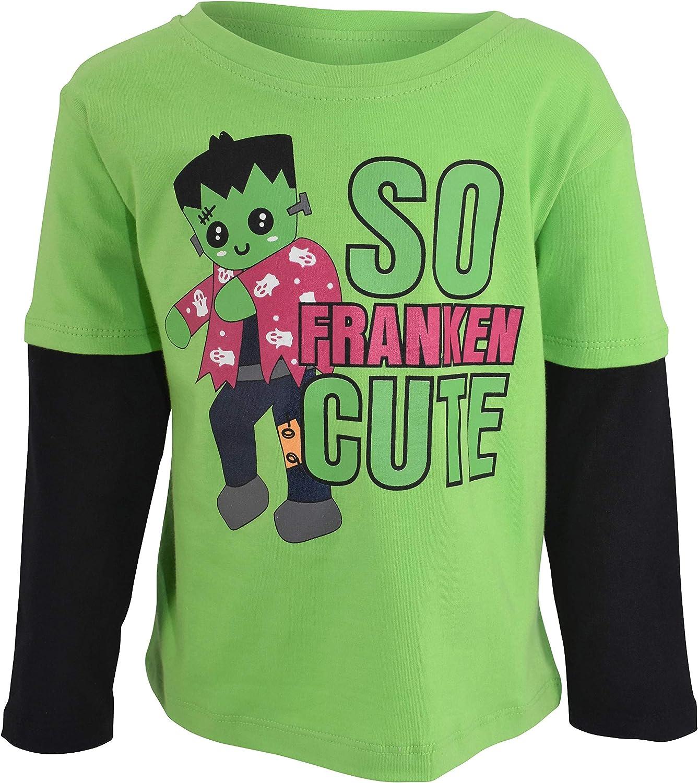 Unique Baby Boys So Franken Cute Layered Halloween T Shirt