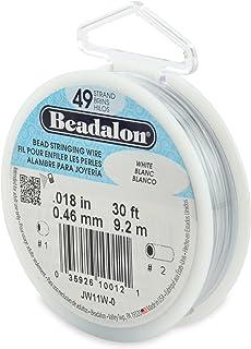 "Beadalon 49-Strand 0.018"" (0.46 mm) 30 ft (9.1 m) White Bead Stringing Wire"