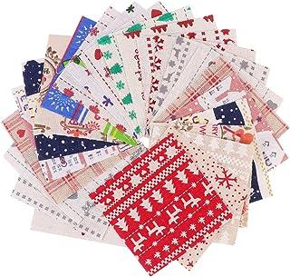 Conjunto de 40 peças de tecido de algodão de Natal da ARTIBETTER com tecido de patchwork para artesanato de Natal (padrão ...
