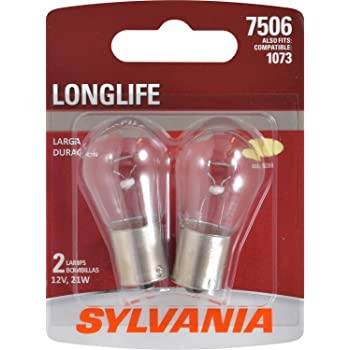 SYLVANIA - 7506 Long Life Miniature - Bulb, Ideal for Daytime Running Lights (DRL) and Back-Up/Reverse Lights (Contains 2 Bulbs)