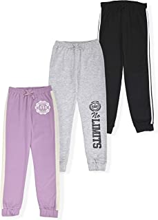 Girls 3-Pack Fleece Active Jogger Sweatpants Kids Clothes for Athletic Fashion and Casual Wear