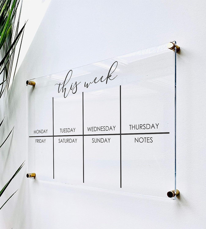 Acrylic Weekly Calendar Ranking TOP5 Max 58% OFF Wall For Board