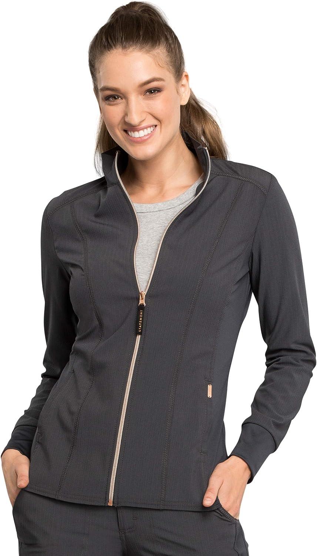 Cherokee Statement Women's Zip Front Scrub Jacket