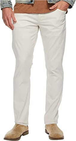 Blake Slim Straight Zip Jeans in Off-White