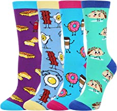 Women Girls Novelty Funny Crew Socks, Crazy Fun Unicorn Corgi Dog Pineapple