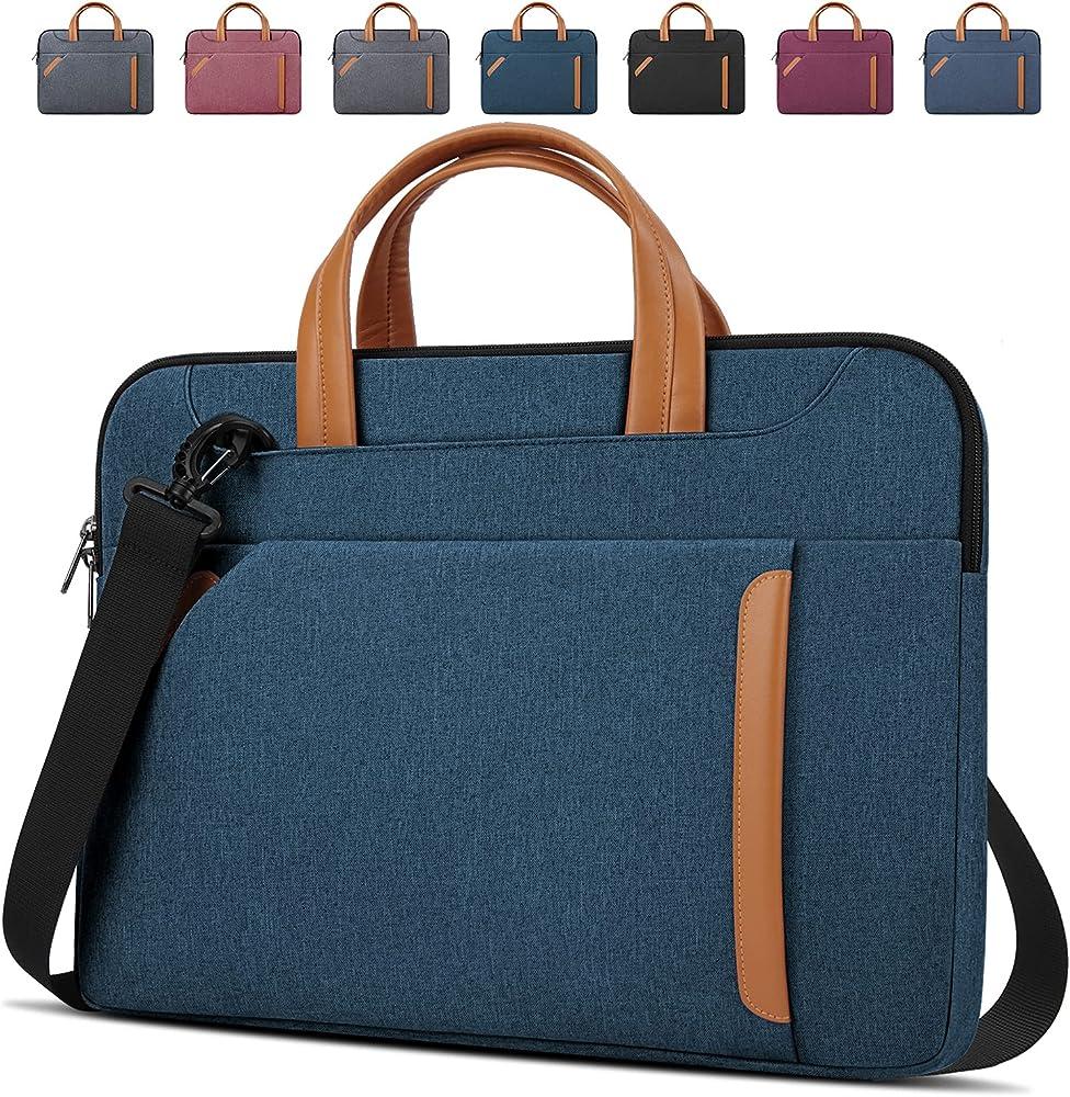 Lubardy borsa porta pc tracolla unisex in oxford impermeabile BLU NAVY