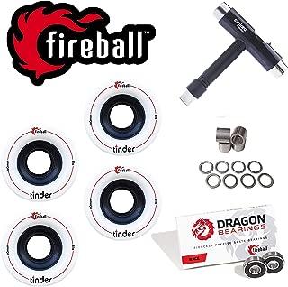 Fireball Tinder 81a Durometer Skateboard & Longboard Wheels (Set of 4 | 60mm & 70mm