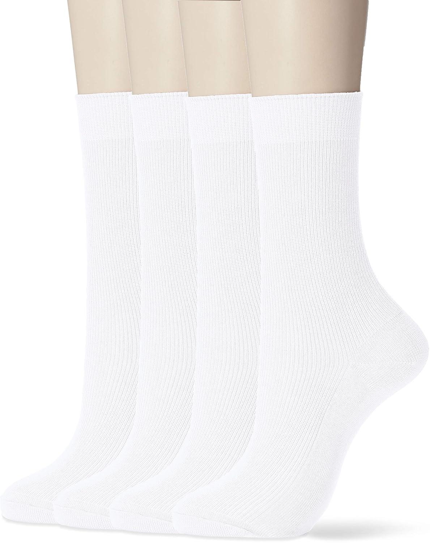 [癒足] (癒足) 日本製4足セット 婦人綿100% リブクルー レディース 46801-990