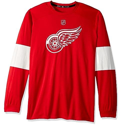 6d62bca438c adidas NHL Mens Silver L S Jersey Tee