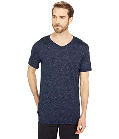 Smartwool Everyday Exploration Merino V-Neck Tee (Deep Navy Heather) Men