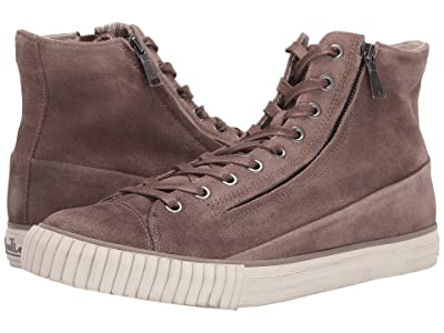 John Varvatos Vulcanized Washed Suede Double Zip Mid (Light Brown) Men