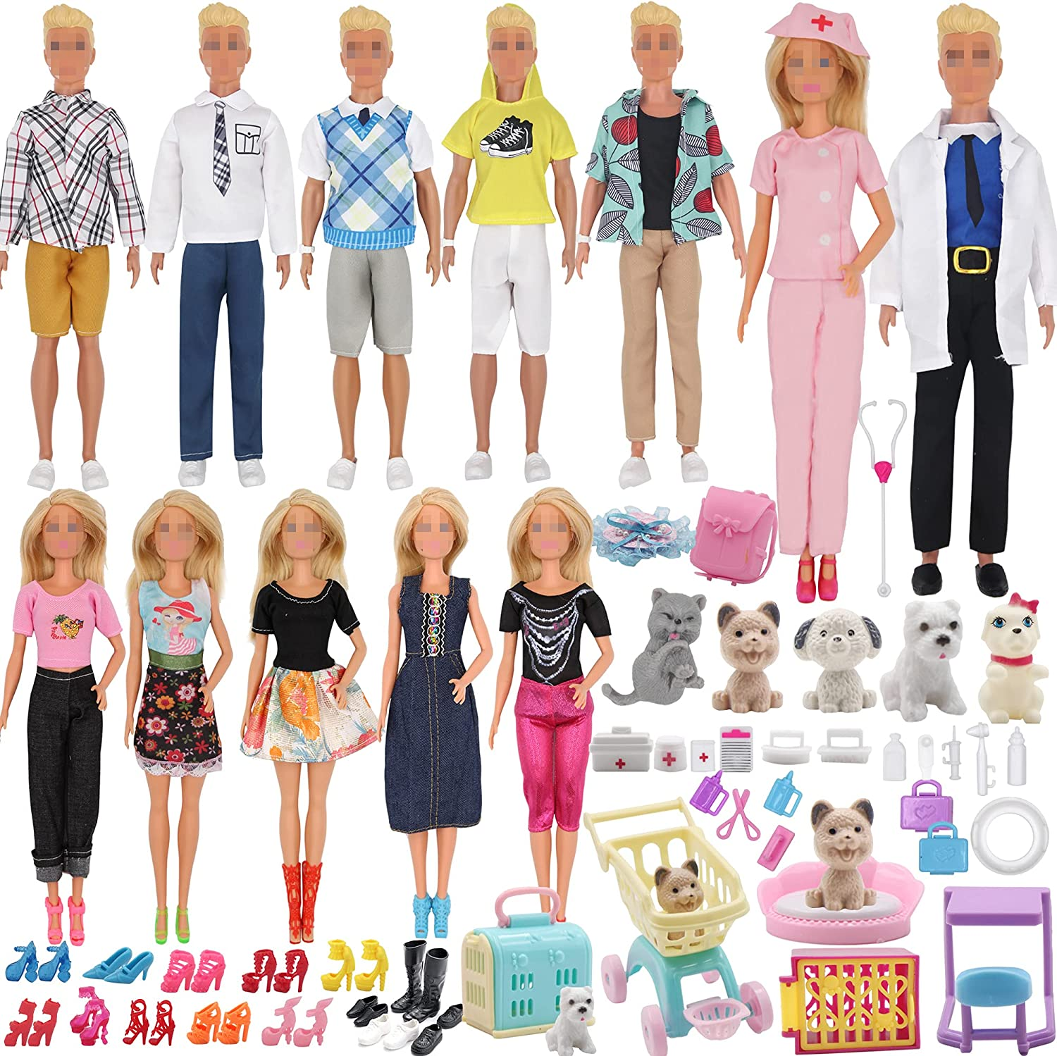 EuTengHao 12'' Boy Girl Doll Clothes OFFicial Se and Care Accessories Pet Max 52% OFF