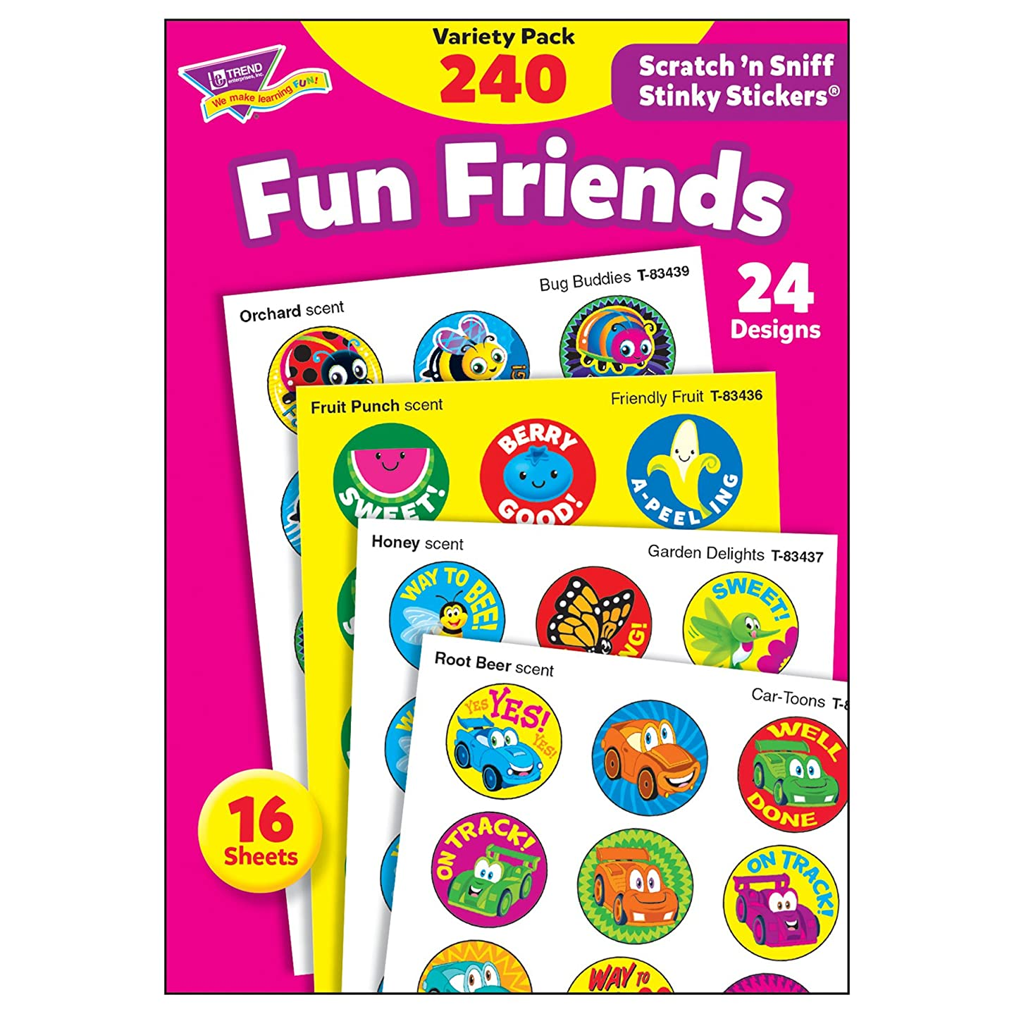 TREND enterprises, Inc. T-83917 Fun Friends Stinky Stickers Variety Pack, 240/Pack