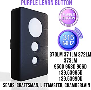 craftsman garage door opener remote purple learn button