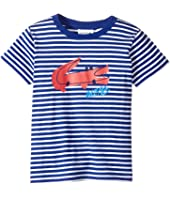 Lacoste Kids - Small Short Sleeve Whimsy Croc Stripe Tee (Toddler/Little Kids/Big Kids)