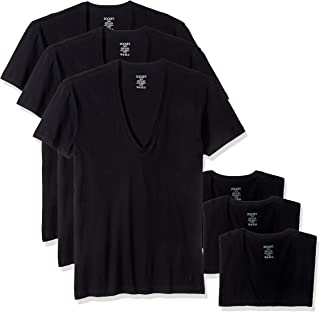 Men's Essential Slim Fit Deep V Neck T-Shirts - 3 Pack (020351) Underwear