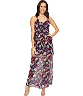 ROMEO & JULIET COUTURE - Floral Chiffon Ruffled Maxi Dress