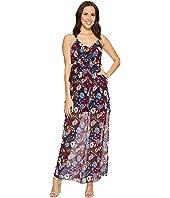 ROMEO & JULIET COUTURE - Floral Chiffon Ruffled Maxi Dress