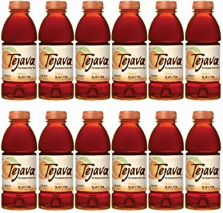 Tejava Unsweetened Peach Iced Tea, 16.9 oz PET Bottles, Award Winning, Non-GMO-Verified, from Rainforest Alliance-Certified farms (12 Pack)