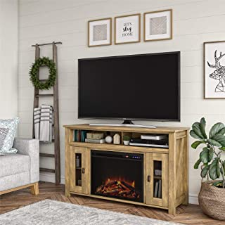 "80"" fireplace tv stand"