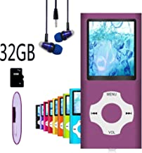 $22 » MP3 Player / MP4 Player, Hotechs MP3 Music Player with 32GB Memory SD Card Slim Classic Digital LCD 1.82'' Screen Mini USB Port with FM Radio, Voice Record