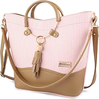 Shining Star Women's Multi-Coloured (Peach+Beige) Handbag