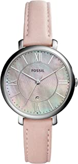 Women Jacqueline Stainless Steel and Leather Casual Quartz Watch