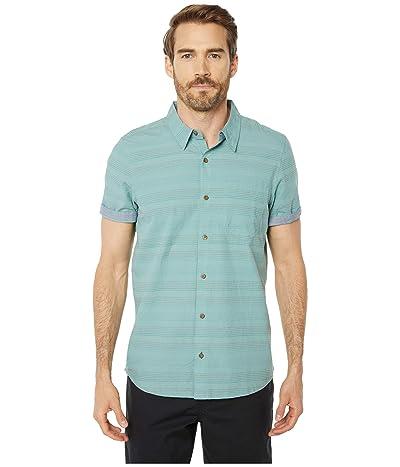 Toad&Co Airlift Short Sleeve Shirt Slim (Blue Surf) Men