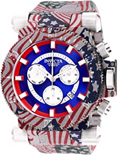 Invicta Men's Coalition Forces Quartz Watch with Stainless Steel Strap, Multicolor, 34.5 (Model: 26642)