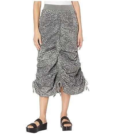 XCVI Leopard Maxi Skirt in Lynx Printed Poplin (Grey Mist) Women