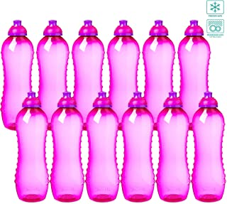 Sistema Sports Squeeze Water Bottles Bulk, BPA Free, Team Pack ~ Bundle of Premium Water Bottles for Kids Men Women Running Bikes, 21 Ounces