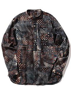 Beams Plus Batik Print Popover Band Collar Shirt 11-11-6304-139