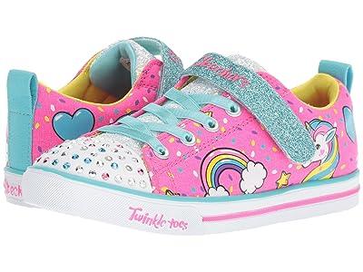SKECHERS KIDS Twinkle Toes Sparkle Lite 10988L Lights (Little Kid/Big Kid) (Neon Pink/Multi) Girl