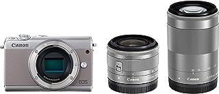 Canon ミラーレス一眼カメラ EOS M100 ダブルズームキット グレー EOSM100GY-WZK