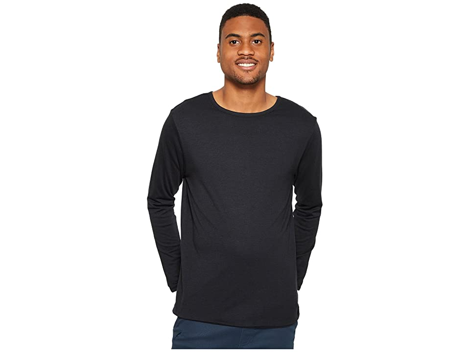 Image of 4Ward Clothing Four-Way Reversible Long Sleeve Jersey Tee (Black/Black) Boy's Sweater