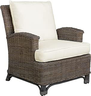 Panama Jack Sunrooms PJS-3001-KBU-LC Exuma Lounge Chair with Cushion, Sunbrella Dimone Sequoia