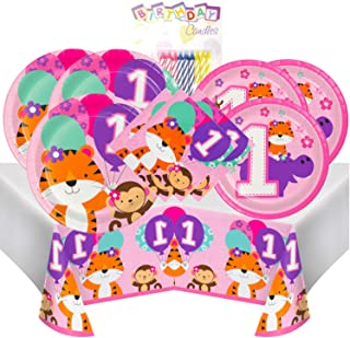 One is Fun Girl 1st Birthday Themed Party Pack – Includes 24 9