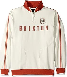 Brixton Men's Judson Standard Fit Mock Neck Zip Fleece Sweatshirt