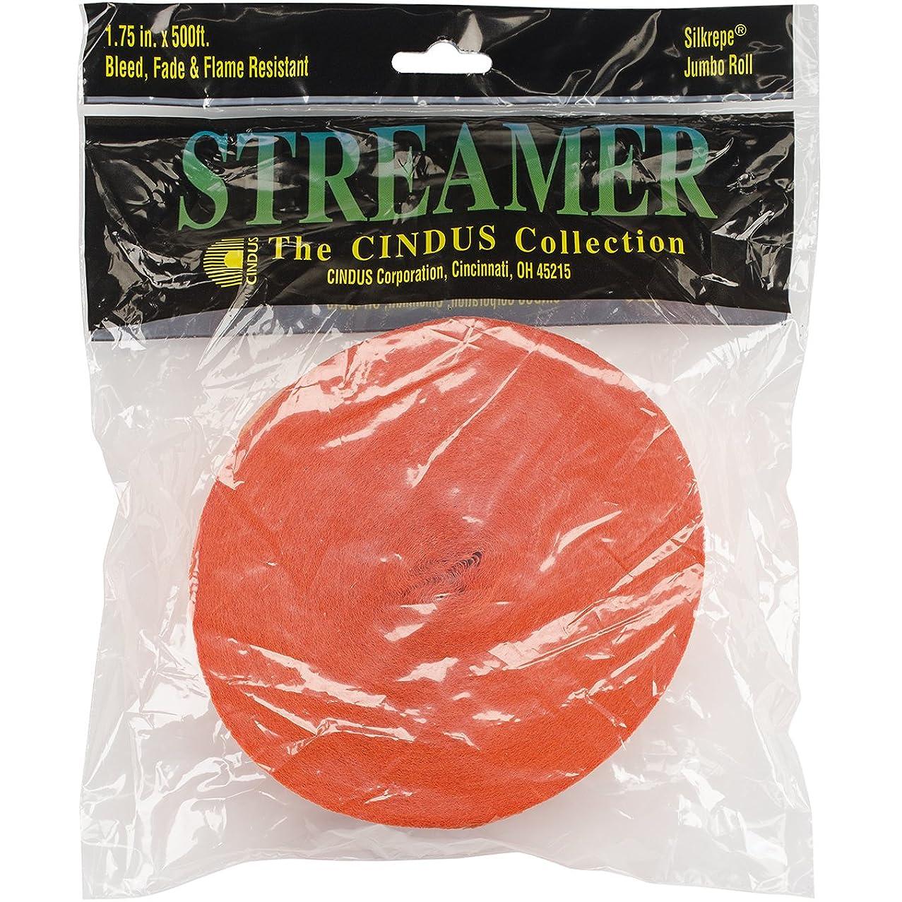 Orange Crepe Paper Streamer | 1.75 in. x  500 ft.