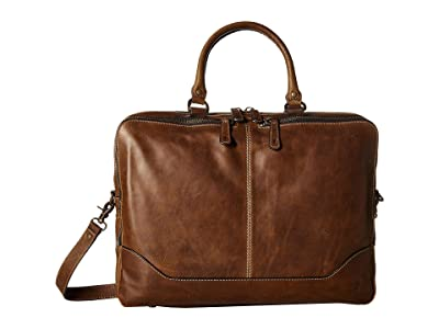Frye Logan Work Bag (Dark Brown Antique Pull Up) Bags