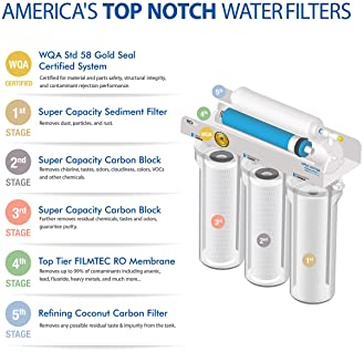 APEC Water Systems Ultimate RO-Hi Top Tier Supreme Certified High Output Fast Flow Ultra Safe Reverse Osmosis Drinkin...