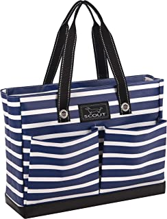 Uptown Girl Tote, Lightweight Utility Tote Bag with 4 Exterior Pockets