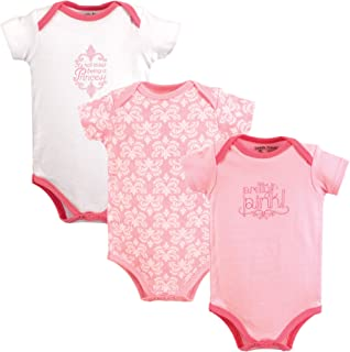 Luvable Friends Baby Girls' Bodysuit 5 Pack Butterfly