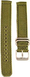 Military Automatic Olive Green Nylon 18mm Watch Strap