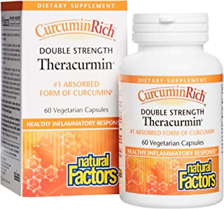 CurcuminRich Double Strength Theracurmin by Natural Factors, Supports Natural Inflammatory Response, Joint and Heart Funct...