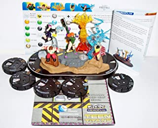 Heroclix DC Teen Titans #T004 Gen 13, #003 Fairchild, #034 Grunge, #072 Burnout, #073 Sarah Rainmaker and #074 Freefall Figures with Cards Super Booster Pack Complete with N.O.W.H.E.R.E. Holding Cells Indoor Map