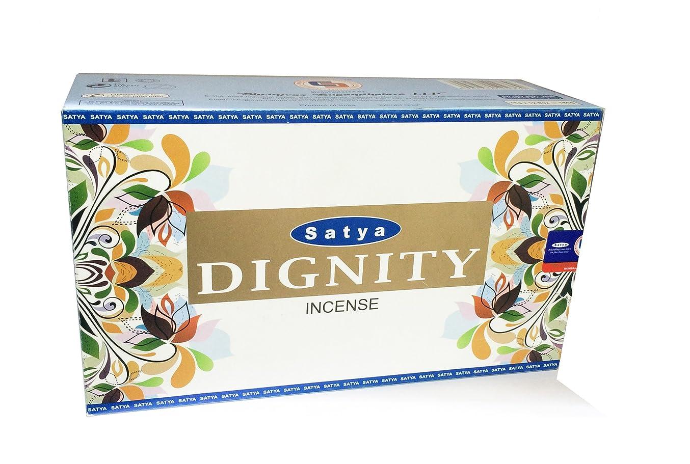 爵絶えずインタフェースSatya Dignity Fragrance Incense Sticks Agarbattiギフト?–?パックof 12ボックス( 15各) GM - 180?gm