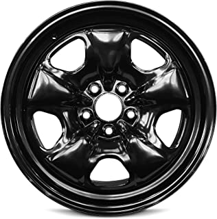 Road Ready Car Wheel For 2010-2013 Chevrolet Camaro 18 Inch 5 Lug Black Steel Rim Fits R18 Tire - Exact OEM Replacement - Full-Size Spare