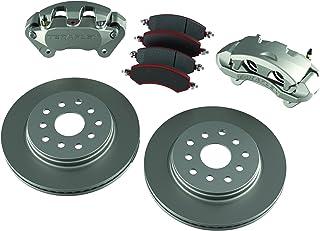 TeraFlex 4303400 JK Front Big Brake Kit (with Big Calipers, PLAIN 13.3' Rotors)