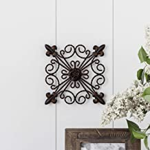 Medallion Metal Wall Art Square Metal Home Décor, Na, 1PK